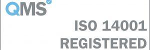 ISO 14001 Registered - White